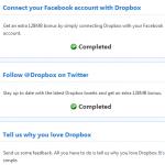 Cómo agregarle 1,134 MB a tu espacio disponible en Dropbox