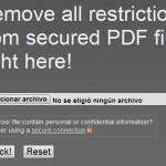 Cómo desbloquear archivos PDF protegidos con un sólo clic