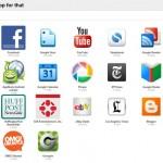 There's a web app for that te sugiere aplicaciones de Chrome basado en tu historial de navegación
