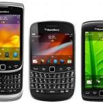 RIM lanza tres nuevos teléfonos BlackBerry