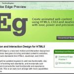 Adobe libera Edge: una nueva herramienta para crear animaciones en HTML 5 y páginas web
