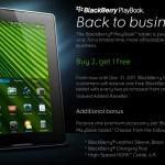 Especial navideño: Compra dos tabletas BlackBerry PlayBook y lleva otra gratis.