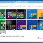 BluePoison: desbloquea las funciones ocultas de Windows 8 y te permite cambiar el tema predeterminado.