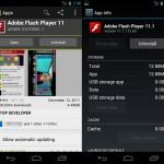 Adobe Flash Player actualizado para Ice Cream Sandwich y el Galaxy Nexus