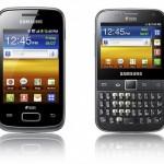 Samsung lanza dos nuevos teléfonos dual-SIM: Galaxy Y Duos y Galaxy Y Pro Duos.