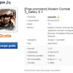 Descarga gratis Modern Combat 3 para Samsung Galaxy II desde la tienda de aplicaciones de Samsung