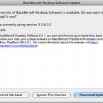 BlackBerry Desktop Manager para Mac actualizado a la versión 2.3.1.5