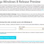 Ya puedes descargar Windows 8 Release Preview