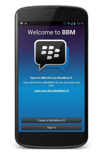 BBM para Android en Nexus 4
