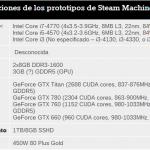 Valve revela las especificaciones de las Steam Machines. Un montón de potencia en un empaque pequeño.
