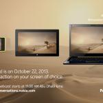 Nokia presentará tres nuevos dispositivos el próximo 22 de octubre