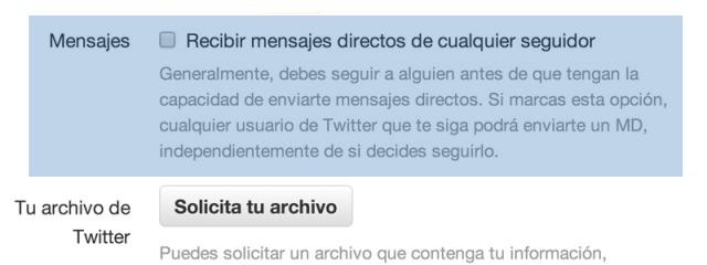 DMs en Twitter