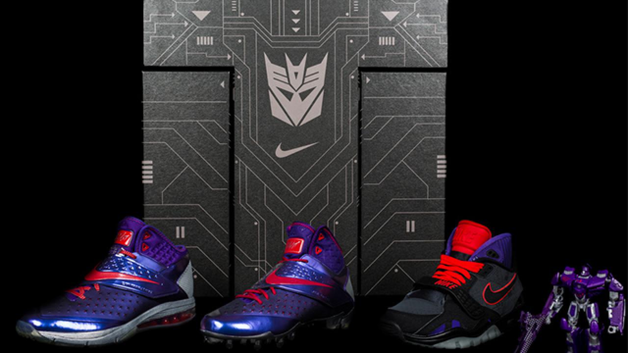 Resentimiento Invalidez Poderoso  Las nuevas zapatillas Nike de Calvin Johnson se venderán con un Transformer    WannaBits