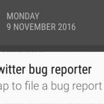 Cómo eliminar la notificación de Twitter Bug Report