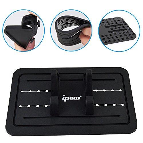 ipow-soporte-para-coche-soporte-silicona-antideslizante-para-salpicadero-de-coche-para-los-smartphone-samsung-s5s4s3iphone-455s66splus-y-gps-color-negro-0-1