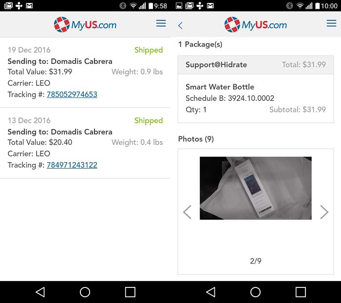 Aplicación MyUS Android