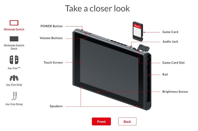 Nintendo Switch specs