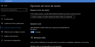 Bloqueo Dinámico Windows 10