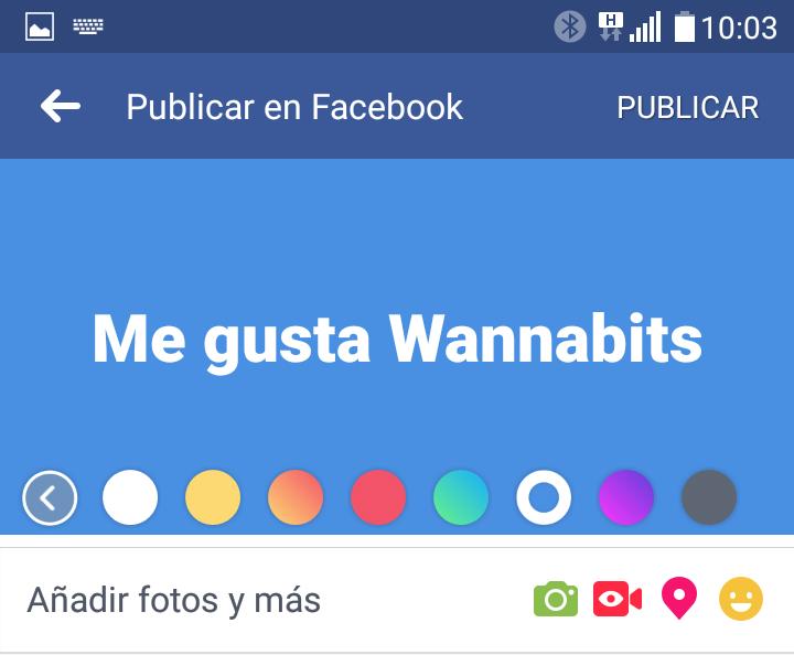 Facebook colores
