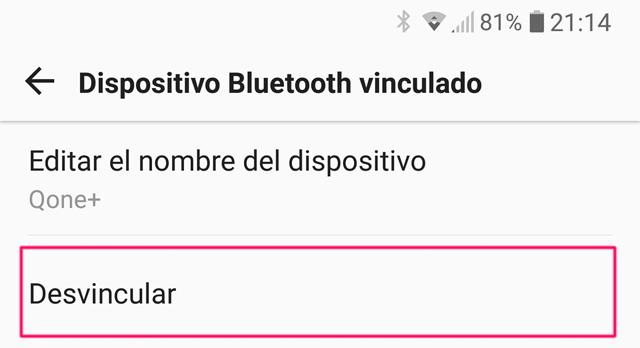 Desvincular Android Auto