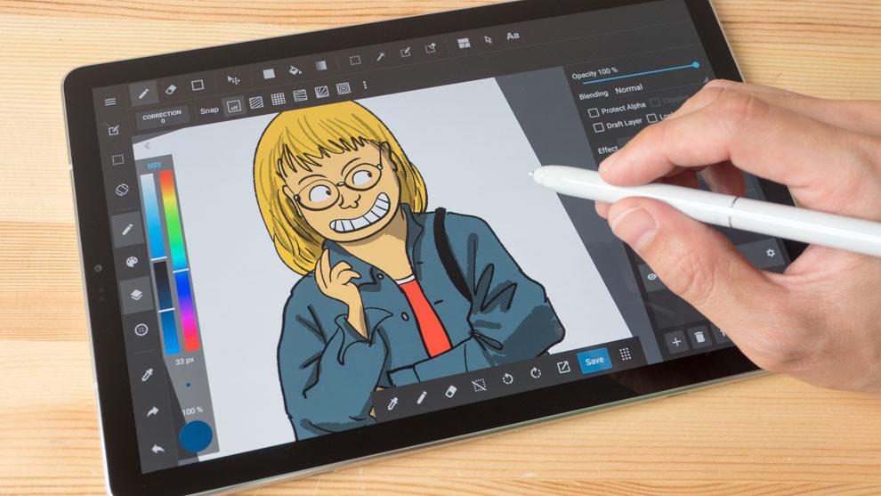 Dibujando en tablet Tab S4