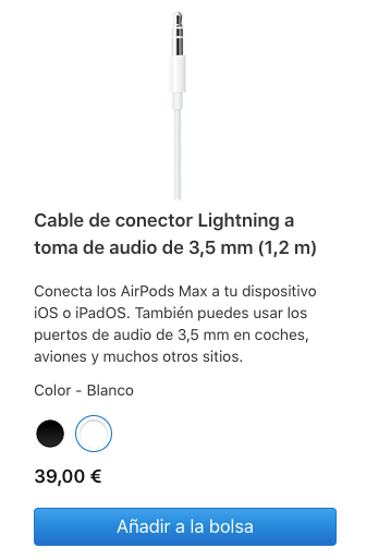 Cable Lightning a 3.5mm