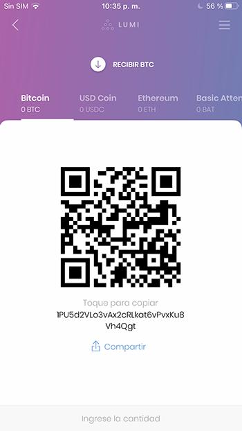 Recibir bitcoins