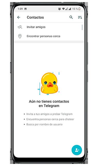Sin contactos en Telegram